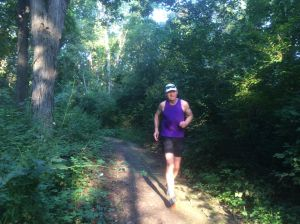monte running sunlight