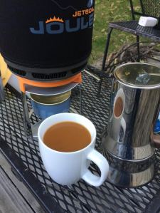 coffee outdoor set up