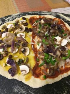 harvest pizza unbaked