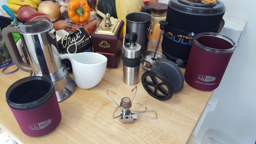 travel ready coffee making equipment